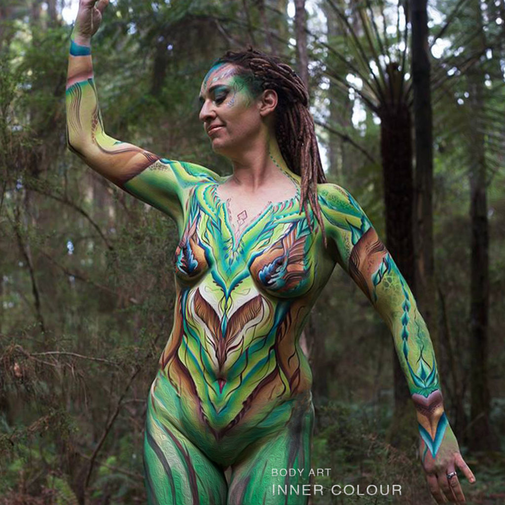 Forest Goddess Body Painting