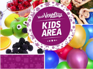 Kids Area, Face painting, World Vegan Day 2016