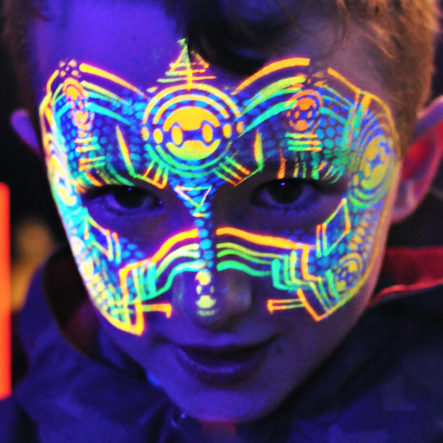 Robot Face Paint | Inner Colour Face Painting | Face Painting Melbourne