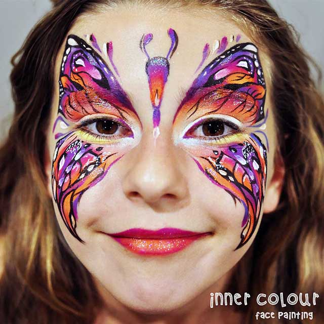 Butterfly Face Painting | Face Painting Melbourne