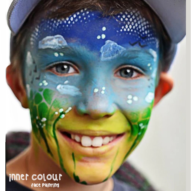 Boy Face Paint | Inner Colour Face Painting | Face Painting Melbourne