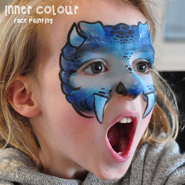 Dinosaur Face Paint | Inner Colour Face Painting | Face Painting Melbourne