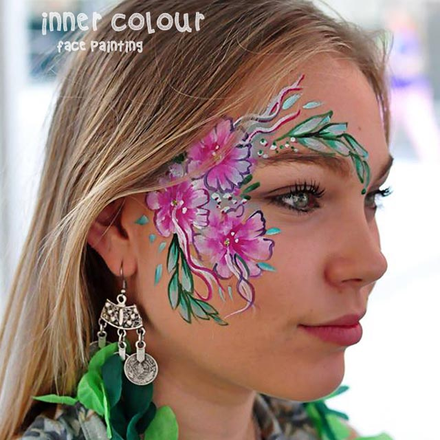 Flowers Face Paint | Inner Colour Face Painting | Face Painting Melbourne