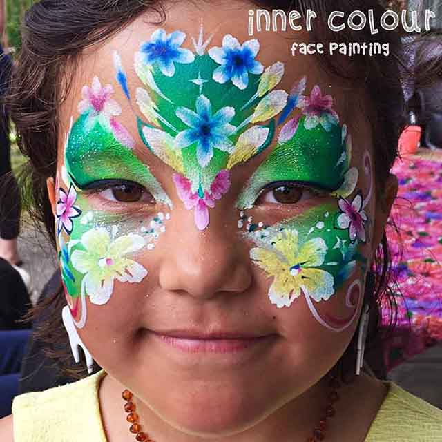 Flower Fairy Face Paint | Inner Colour Face Painting | Face Painting Melbourne