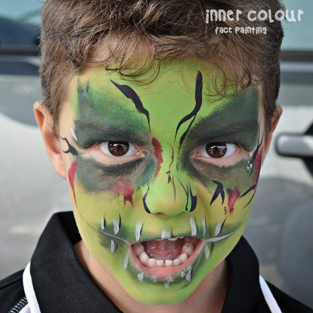 Halloween Zombie Face Paint | Inner Colour Face Painting | Face Painting Melbourne
