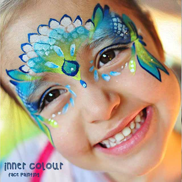 Mermaid Face Paint | Inner Colour Face Painting | Face Painting Melbourne
