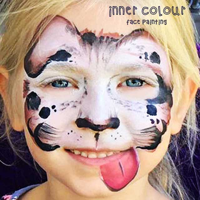 Puppy Face Paint | Inner Colour Face Painting | Face Painting Melbourne