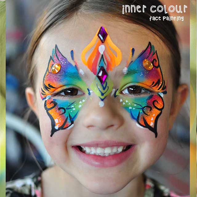 Butterfly Face Paint | Inner Colour Face Painting | Face Painting Melbourne