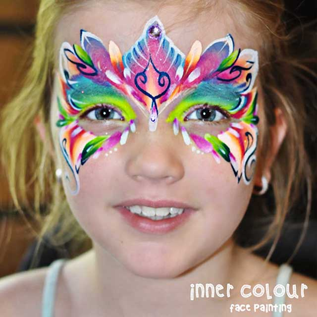Rainbow Fairy Face Paint | Inner Colour Face Painting | Face Painting Melbourne