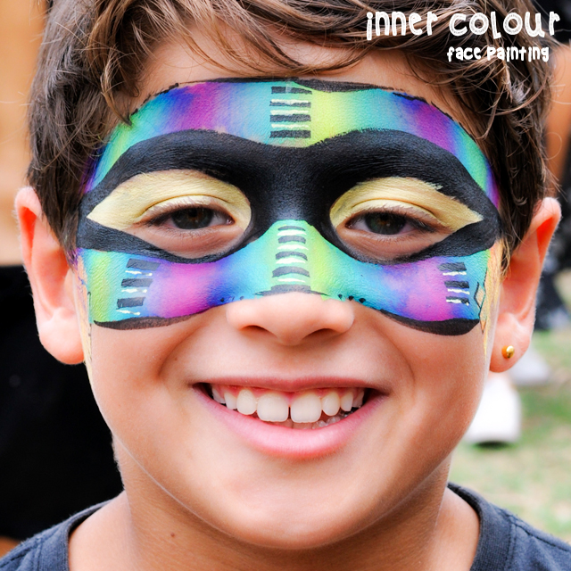 Rainbow Face Paint | Inner Colour Face Painting | Face Painting Melbourne
