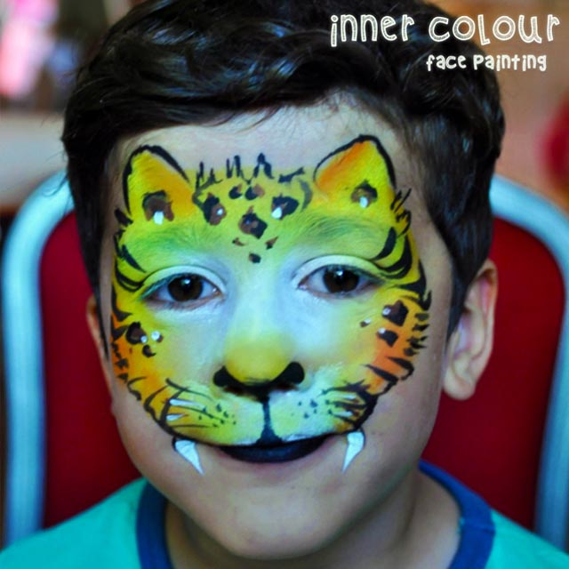 Tiger Face Paint | Inner Colour Face Painting | Face Painting Melbourne