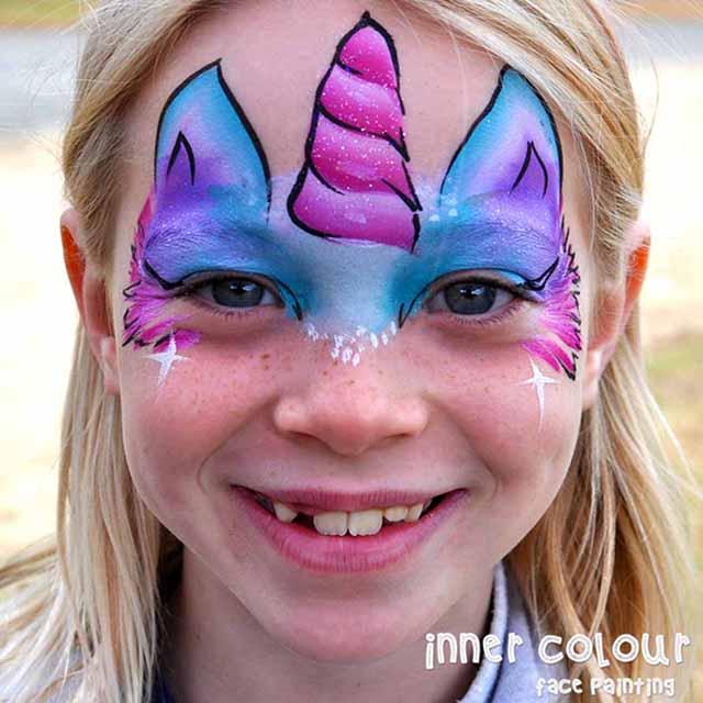 Unicorn Face Paint | Inner Colour Face Painting | Face Painting Melbourne