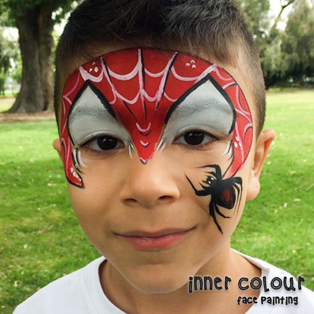 Spiderman Face Paint | Inner Colour Face Painting | Face Painting Melbourne